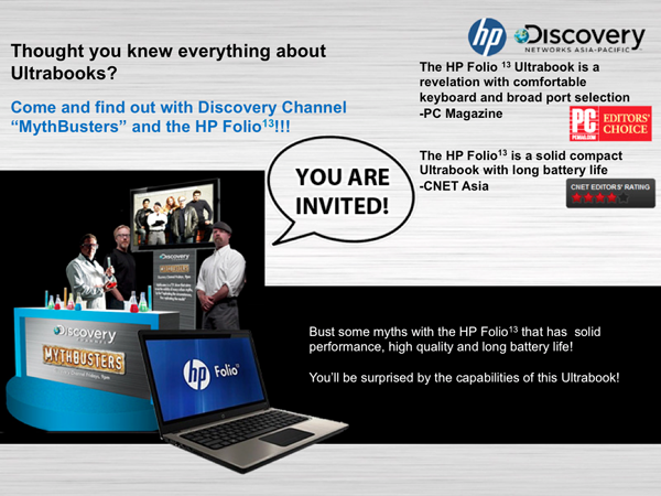 Ultimate Ultrabook Mythbusters experience and HP Folio13 Giveaway