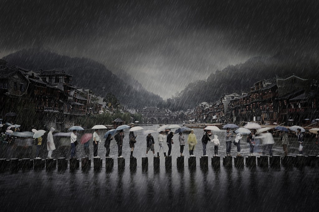 Rain in an Ancient Town