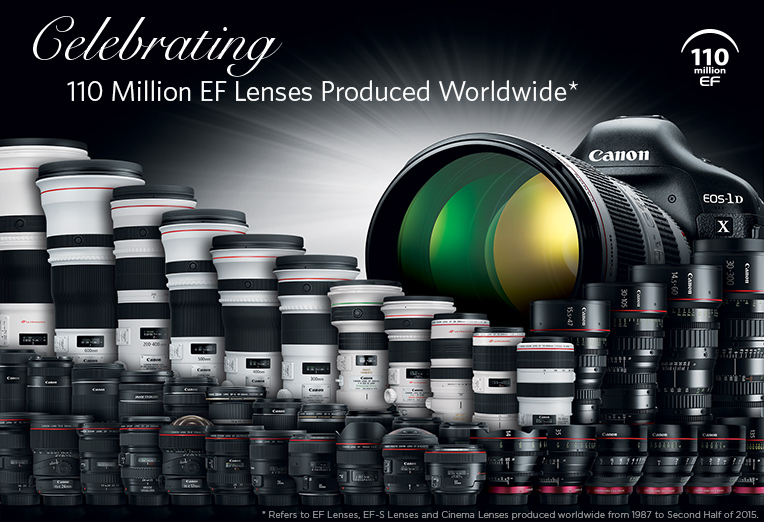 Canon's 110th Million EF Lens