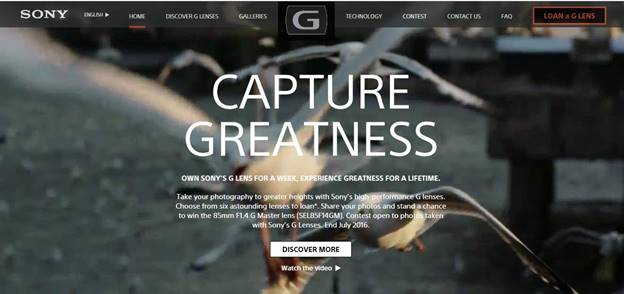 Capture Greatness with G and G Master™ Lenses from Sony