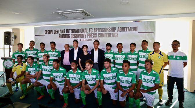 Geylang International FC renews sponsorship with Epson & announces 2017 S-League squad
