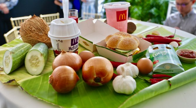 New locally-inspired menu by McDonald's