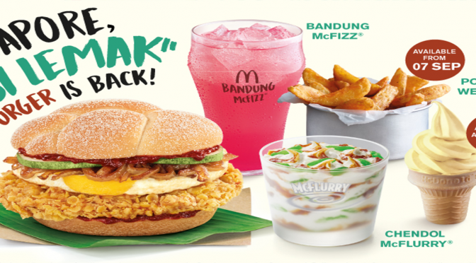 "Singapore ""Nasi Lemak"" Burger is back!"