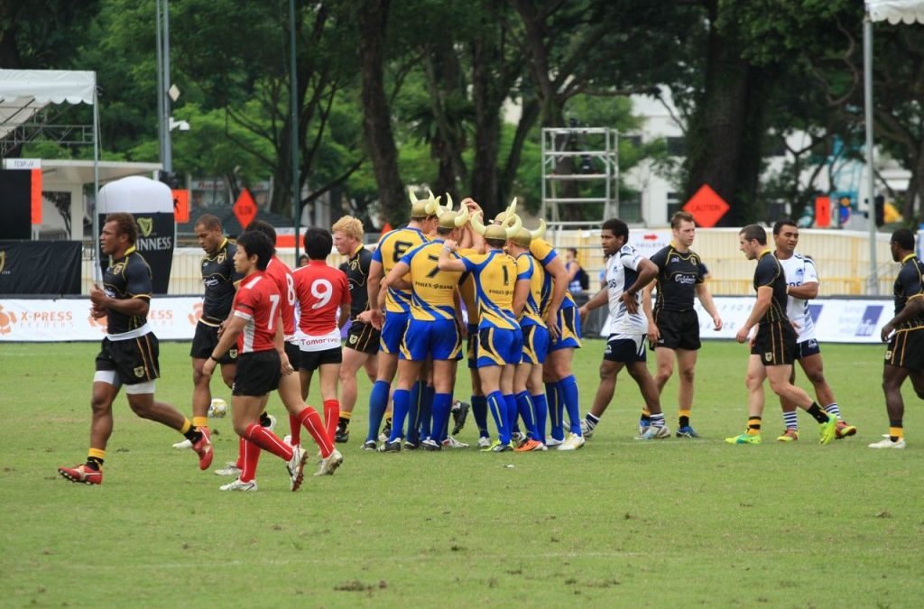 Action from 64th SCC Rugby 7s