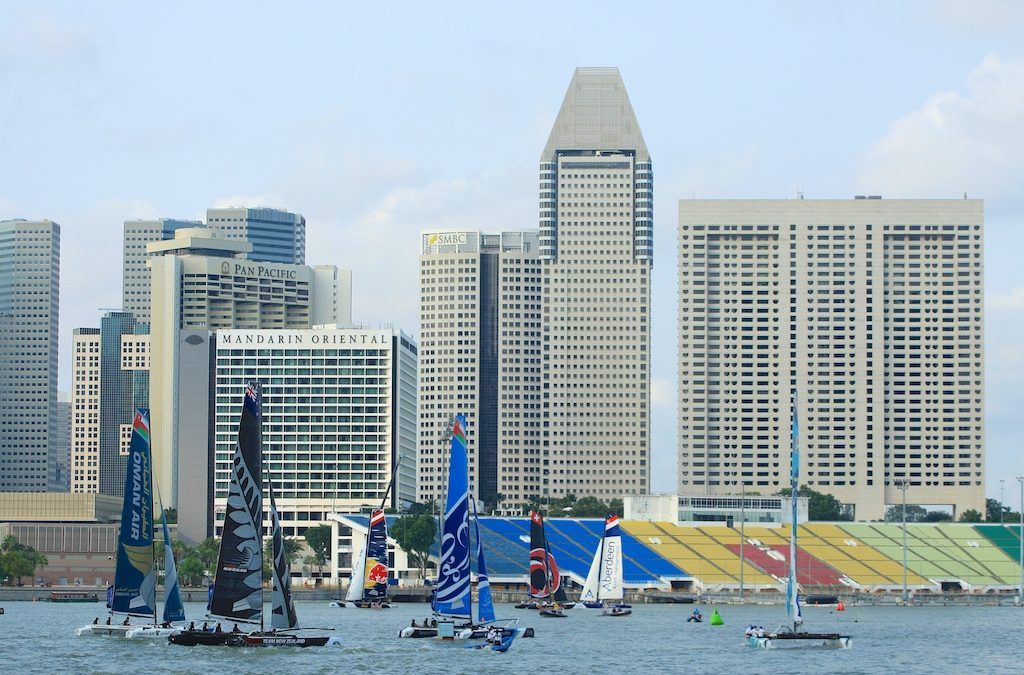 Extreme Sailing Series Singapore – 21st Feb 2014