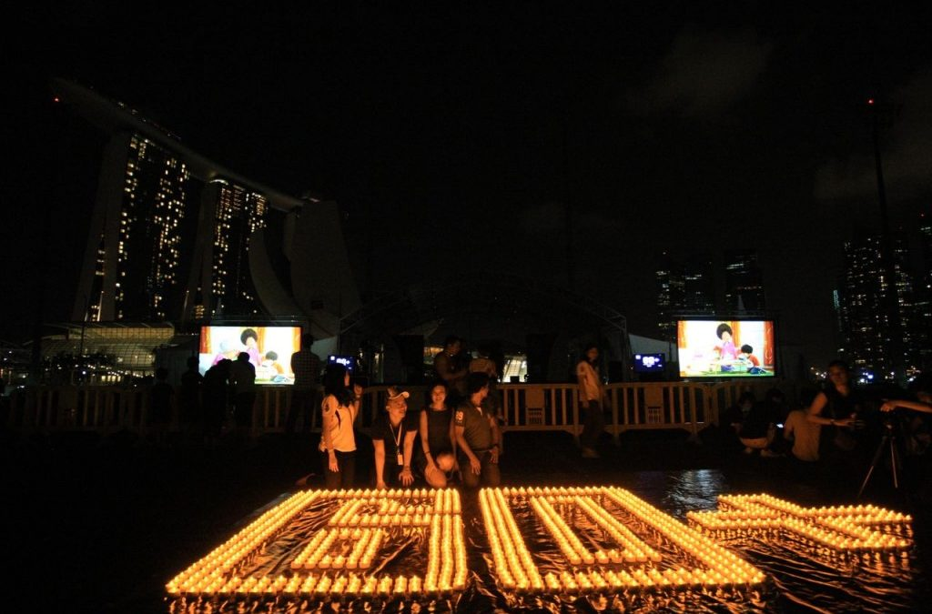 Earth Hour 2013 in Singapore