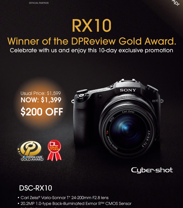 An Exclusive Discounted Price For The Cyber-shot DSC-RX10