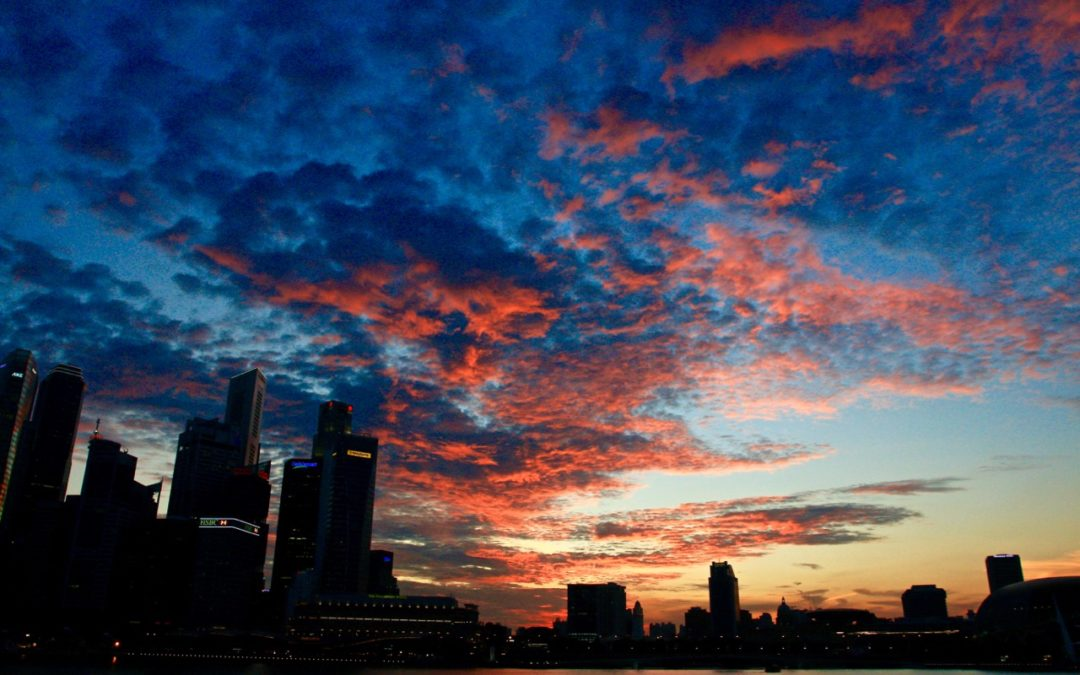 Fiery Sunset in Singapore – 15th April 2016