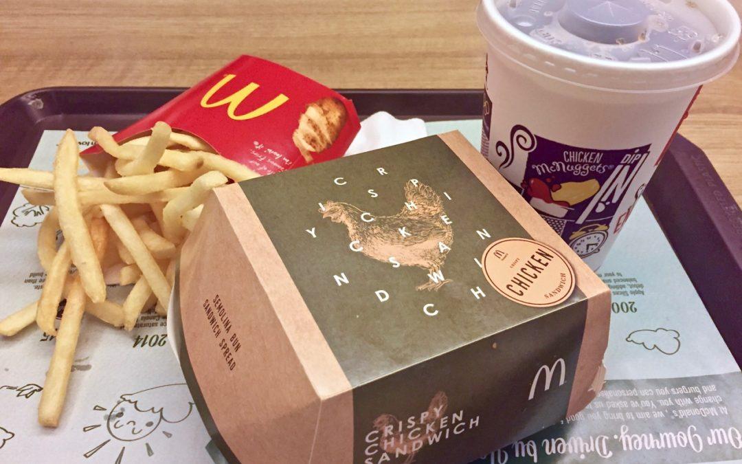 McDonald's new Crispy Chicken Sandwich